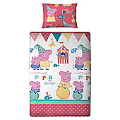 Peppa Pig Fun Fair Duvet Set Single