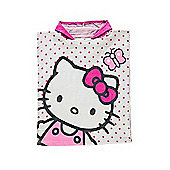Hello Kitty White Hooded Hooded Poncho Towel