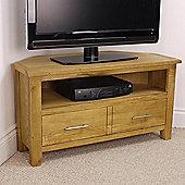 Nebraska Modern Oak Corner TV Stand / Oak Corner TV Unit