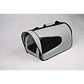 Eden.H Limited Collapsible Pet Carrier in Grey - Medium (23 cm H x 22 cm W x 35 cm D)