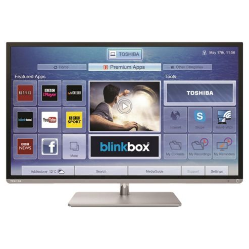 Toshiba 32L6353 32 Inch Smart WiFi Built In Full HD 1080p LED TV With Freeview HD - Silver