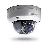 TRENDnet TV-IP321PI Outdoor 1.3 MP HD PoE Dome IR Network Camera 1.3 Megapixel HD resolution Compact IP66 weather rated fixed dome housing