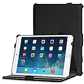 Black Leather Look Case Cover For Apple iPad Mini 1 / 2 / 3