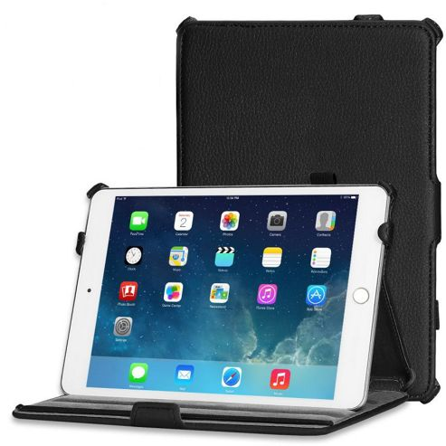 Buy Black Leather Look Case Cover For Apple iPad Mini 1 ...