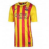 2013-14 Barcelona Away Nike Stadium Shirt - Red