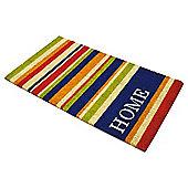 Home Vertical Stripe PVC Coir Mat