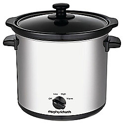 Morphy Richards 460006 3.5L Slow Cooker - Stainless Steel