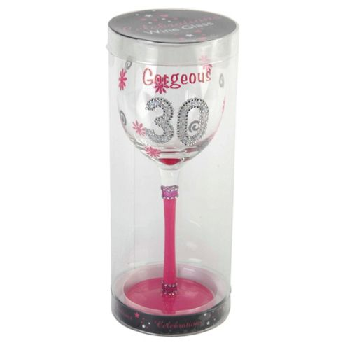 Gorgeous 30th Wine Glass
