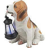 Home Essence 1 Light Outdoor Solar Dog with Lantern Light