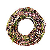 Two Tone Natural Vine & Artificial Moss Christmas Wreath