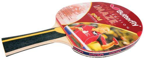 Michael Maze Gold Table Tennis Bat