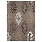 Leaf Print Rug 160 x 230cm, Natural