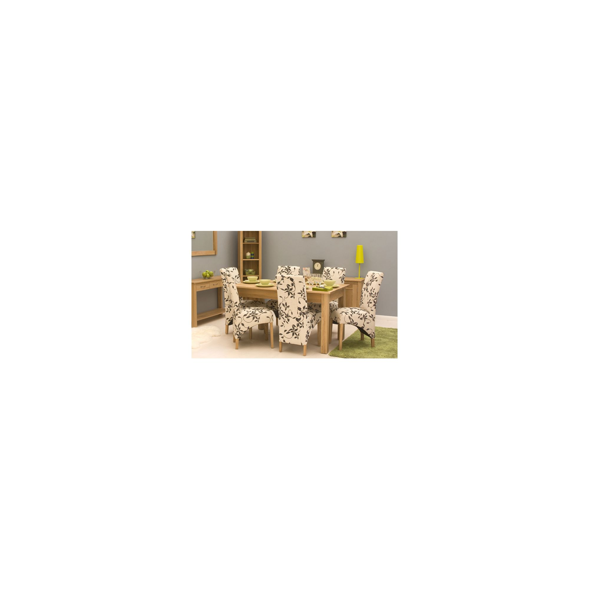 Mobel Oak 150cm Dining Table (4/6 Seater) - Table Only