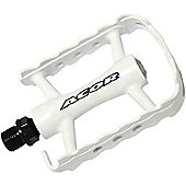 Acor Alloy 1-Piece Pedals: White.