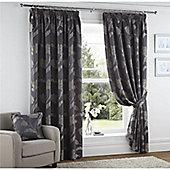 Curtina Sissinghurst Slate 66X90 Lined Curtains