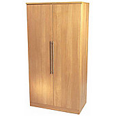 Welcome Furniture Sherwood Plain Midi Wardrobe - Walnut - 197cm H