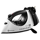 Russell Hobbs 18375 Ceramic Plate Steam Iron - Black & White