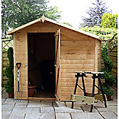 7ft x 7ft Tongue & Groove Offset Apex Windowless Shed