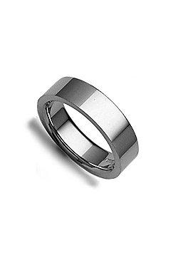 Platinum Premium Quality 6mm Flat Court Wedding / Commitment Ring