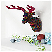 Multi Colour Wool Stags Head