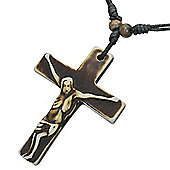 Urban Male Bone Crucifix Cross & Chain Adjustable Length
