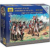 Zvezda 6802 French Line Infantry Napleonic 1:72 Figures Snap Fit Model Kit