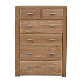 Home Zone Furniture Churchill Oak 2010 2 + 4 Chest of Drawersin Natural Oak