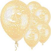 """12"""" 30th Anniversary Latex Balloons (5pk)"""