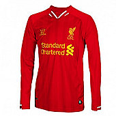 2013-14 Liverpool Home Long Sleeve Shirt (Kids) - Red