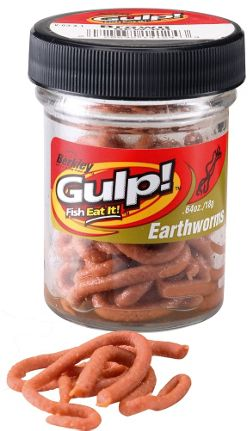 Berkley Gulp Extruded Earthworms Natural brown in Jar Twin Pack