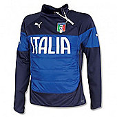 2014-15 Italy Puma Padded Top (Blue-Navy) - Kids - Navy