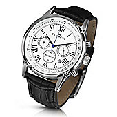 Kennett Savro Mens Leather 24 hour Chronograph Watch WSAVWHBKLBK