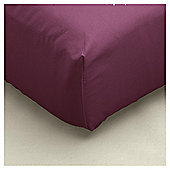 Tesco Fitted Sheet Burgundy, Single