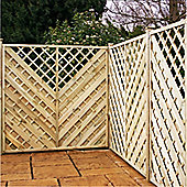 6FT Pressure Treated Chevron Weave Trellis Panels - 1 Panel Only 6'