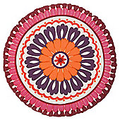 F&F Home Latin Bazaar Round Cushion