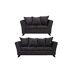Ella 3+2 Sofa Set Charcoal
