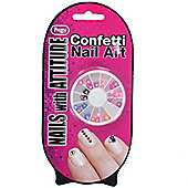 Pretty Nails Nail Art Confetti-Hearts & Stars