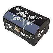 Grand International Decor Blossom Jewellery Box in Black