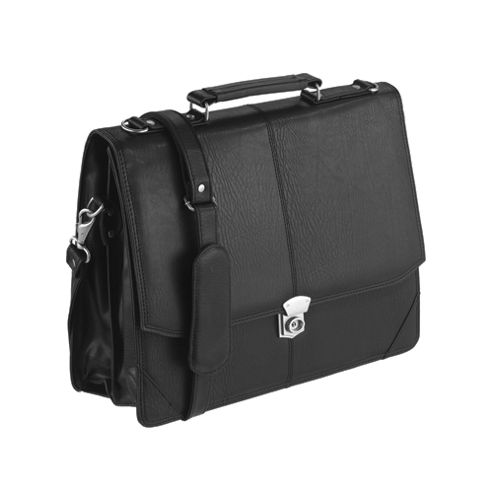 Falcon 2584 Synthetic Leather Flapover Briefcase
