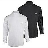 Woodworm Roll Neck Golf Shirt 2 Pack L