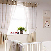 bed-e-byes Zippy Zebra Curtains Tab Top 117x137