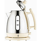 Dualit 72402 1.5L Cordless Jug Kettle - Stainless Steel and Cream