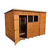 10ft x 6ft (3.13m x 1.92m) Select Overlap Pent Wooden Garden Shed + Single Door