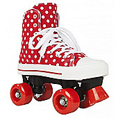 Rookie Quad Skates - Canvas High Stars Blue/White - Size - UK 2 - Red