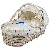 Clair de lune ABC Moses Basket, Cream