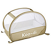 Koo-di Pop Up Bubble Travel Cot, Cafe Creme