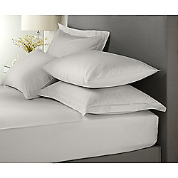 Signature Dove Grey Pair of Housewife Pillowcases