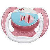 Dr Brown's Pacifier - Stage 1, 0-6 months, Pink Fish (1 pack)