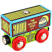 Bigjigs Rail BJT430 Golden Egg Company Wagon