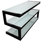 NorStone Esse Mini TV Stand - Black / Frosted